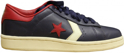 Converse Skateboard Pro Leather Ox Navy/Cream/Red Sneakers shoes – Bild 1