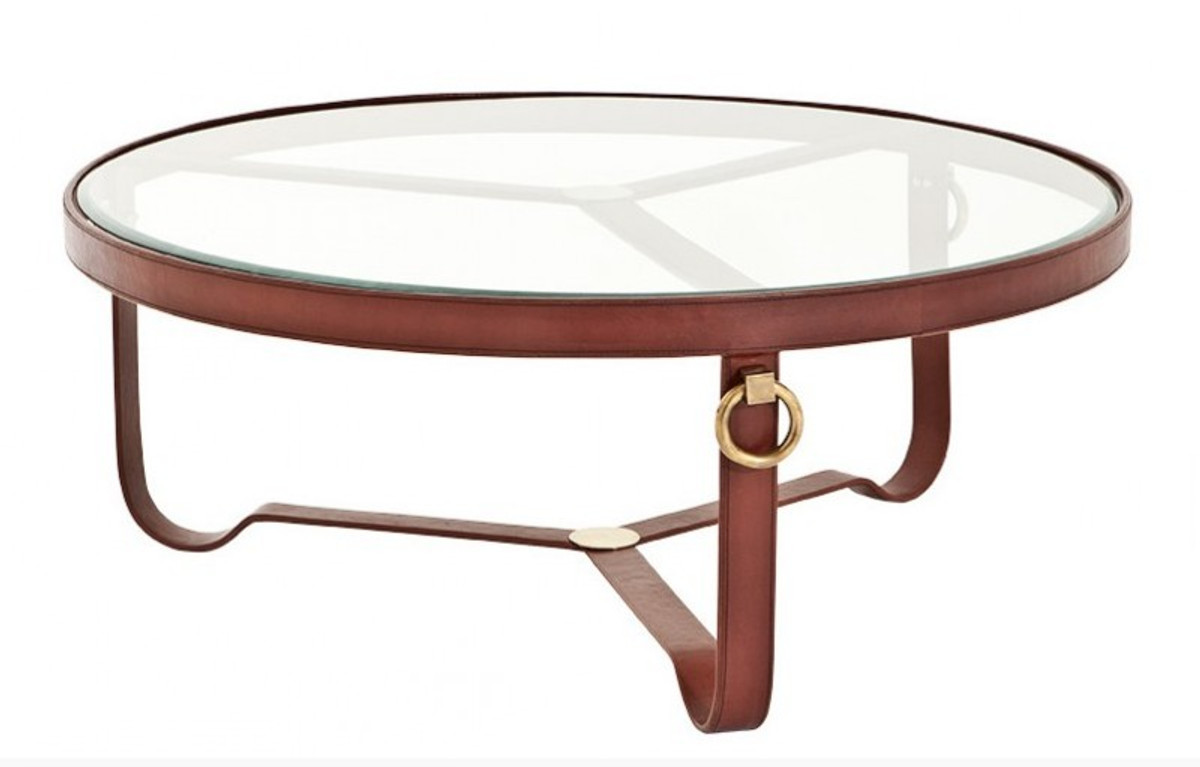 - Casa Padrino Luxury Designer Coffee Table With Glass Top Round