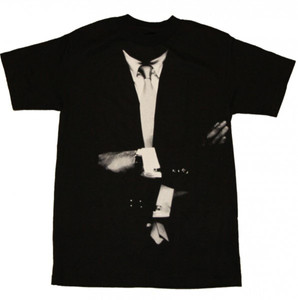Fuct Skateboard T-Shirt Black Smoking Suit With tie