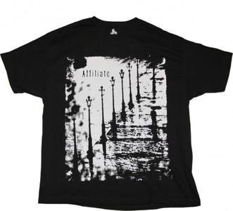 Affiliate Skateboard T-Shirt  Black/White