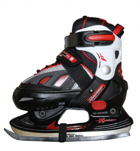 Hudora Xpulse Schlittschuhe Ice Skates  Black/Red/White Profi Schlittschuhe Kids Ice Skates – Bild 2