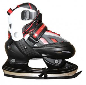 Hudora Xpulse Schlittschuhe Ice Skates  Black/Red/White Profi Schlittschuhe Kids Ice Skates – Bild 1