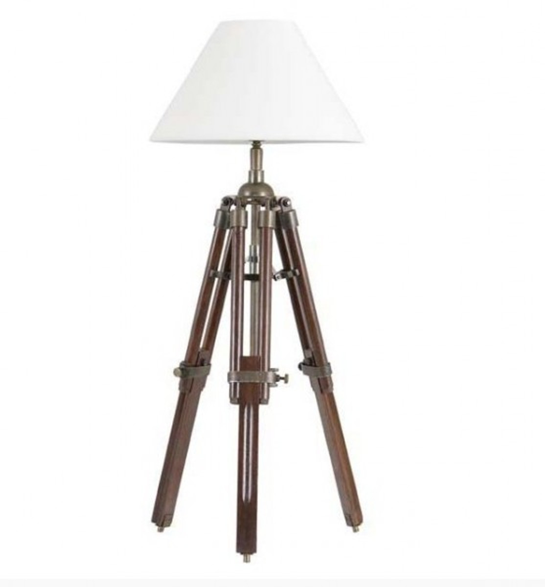 designer stativ lampe telescope hockerleuchte mit weissem schirm h 60 cm tripod lamp. Black Bedroom Furniture Sets. Home Design Ideas