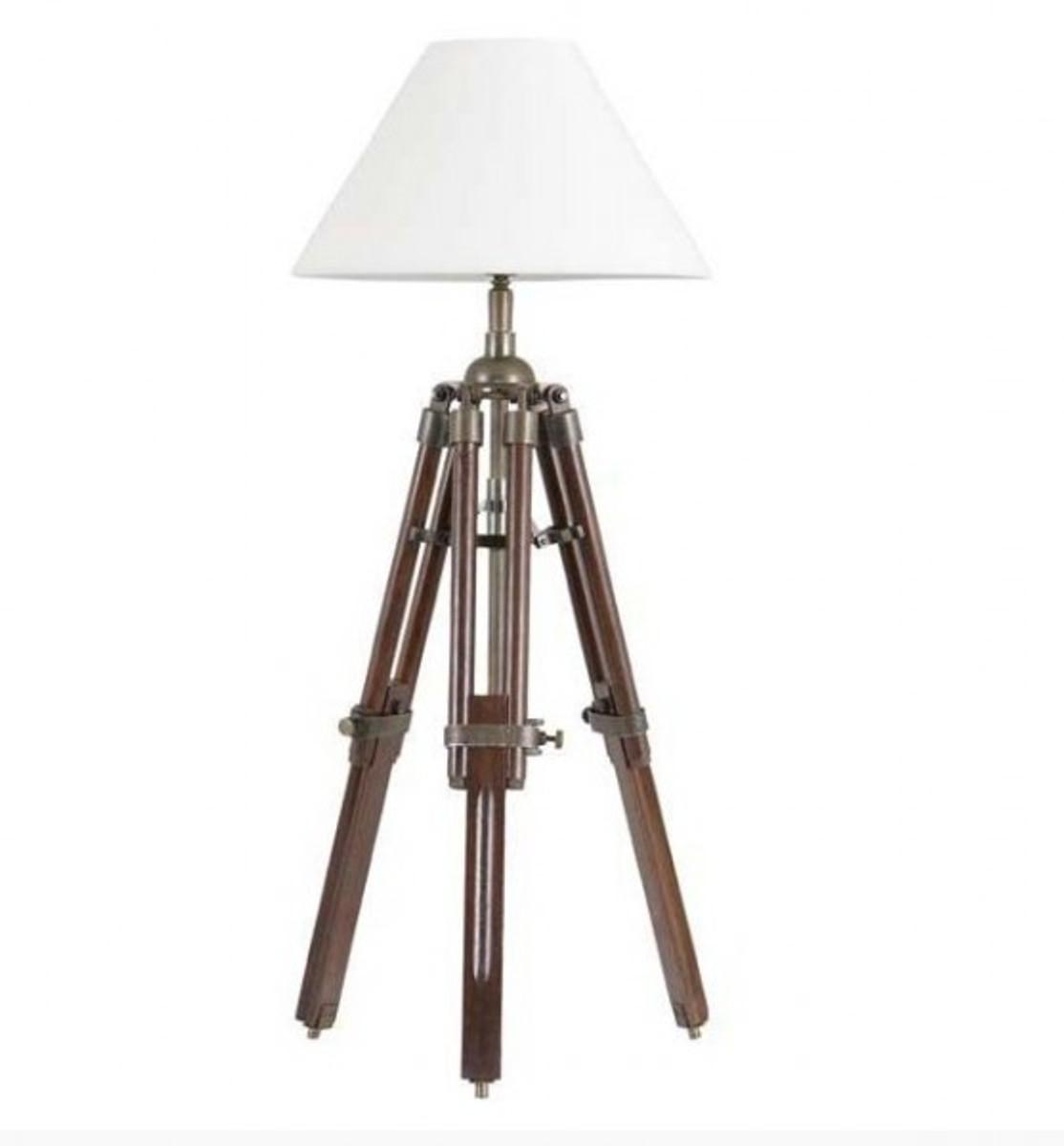 designer stativ lampe telescope hockerleuchte mit weissem schirm h 60 cm tripod lamp. Black Bedroom Furniture Sets. Home Design Ideas