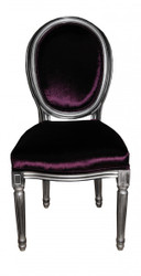 Casa Padrino Baroque Dinner Chair Purple - Designer Chair - Luxury quality