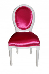 Casa Padrino Baroque Dinner Chair Pink - Designer Chair - Luxury quality