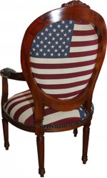Baroque Salon Chair Mod 3 USA Design / Mahagoni Brown - USA Style 2