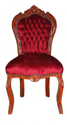 Casa Padrino Baroque Dinner Chair Bordeaux / Brown