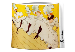 "Handmade porcelain vase with a motif of T. Lautrec ""La Troupe de Mademoiselle Eglantine"", oval, height 20 cm - finest quality from the Tettau porcelain factory - beautiful vase"