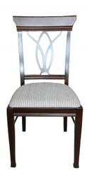 Casa Padrino Biedermeier Dining chair without armrest Beige / Brown - Restaurant Hotel Furniture