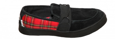 Osiris Skateboard Schuhe Slip On Branson Black / Red Plaid Slipper – Bild 1