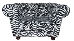 Casa Padrino Limited Edition Designer Chesterfield armchair Zebraclub Furniture