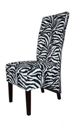 Casa Padrino Limited Edition Designer Chesterfield dining chair Zebra - Club Furniture