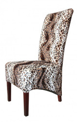 Casa Padrino Limited Edition Designer Chesterfield dining chair Leopard - Club Furniture