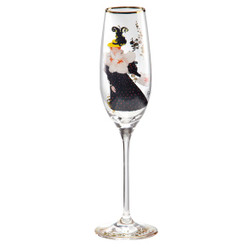 "Champagne glass with a motif of T. Lautrec ""Luce Myres"", 0.19 Ltr - finest quality from the Tettau porcelain factory - beautiful champagne glass"