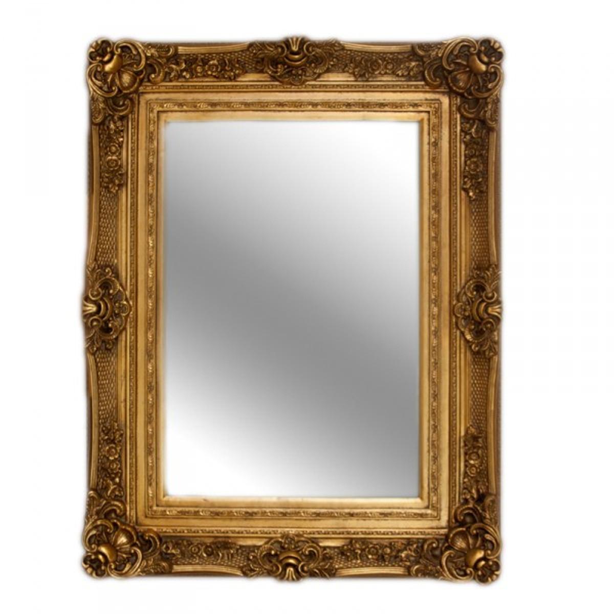 casa padrino barock wandspiegel gold antik look h he 121 cm breite 90 cm edel prunkvoll. Black Bedroom Furniture Sets. Home Design Ideas