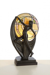 Handmade Tiffany decorative lamp, lamp figure of Casa Padrino height 48 cm, width 30 cm - Light Lamp - Statuette