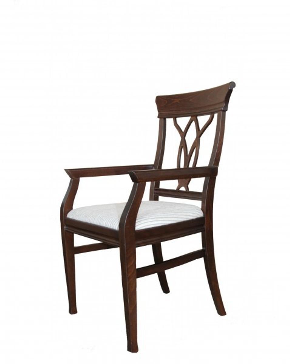 casa padrino biedermeier esszimmer stuhl mit armlehne beige braun m bel restaurant hotel. Black Bedroom Furniture Sets. Home Design Ideas