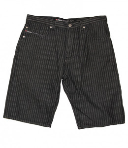 Reell Skateboard Herren Denim Shorts Pinstripe Black