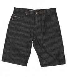 Reell Skateboard Herren Denim Shorts Pinstripe Black 001