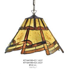 Handmade Tiffany Hanging Lamp by Casa Padrino diameter 42 cm, 1-burner - light bulb - beautiful ceiling lamp