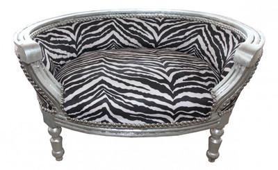 Baroque Cats & Sofa Zebra / Silver Dog Bed & Cat Bed – Bild 1