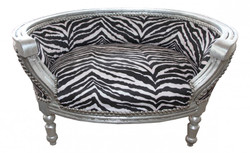 Baroque Cats & Sofa Zebra / Silver Dog Bed & Cat Bed