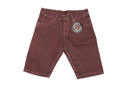 Independent Skateboard Shorts Basic Jeans Bordeaux – Bild 1
