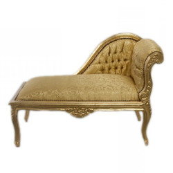 Casa Padrino Baroque Kids chaise Gold Pattern / Gold Mod2 - Baroque Furniture Tron