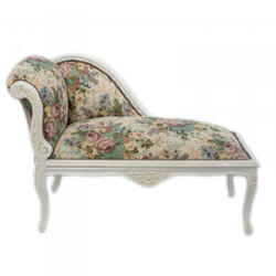 Casa Padrino Baroque Kids chaise floral pattern / cream Mod2 - Baroque Furniture Tron