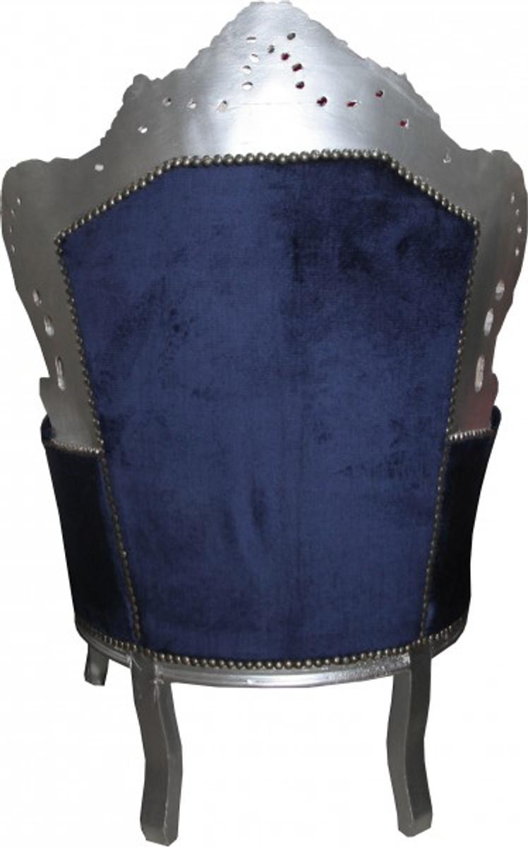 casa padrino barock sessel king royalblau silber m bel. Black Bedroom Furniture Sets. Home Design Ideas