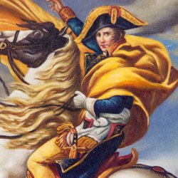 Hand-painted Baroque oil painting Napoleon on horse gold splendor frame 130 x 100 x 10 cm - Solid material 2