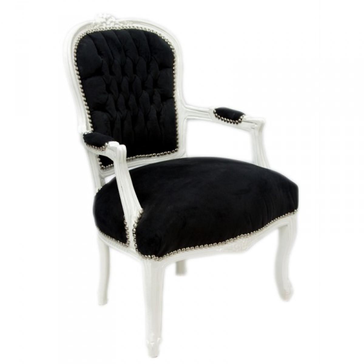 casa padrino barock salon stuhl schwarz weiss st hle barock st hle barock salon st hle mod1. Black Bedroom Furniture Sets. Home Design Ideas