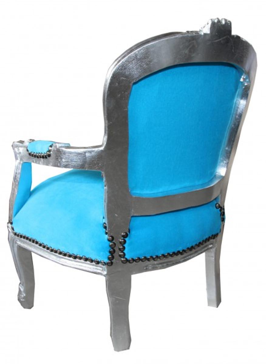 Casa padrino baroque kids armchair union jack creme casa for Salon turquoise