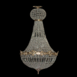 Baroque chandelier gold with glass crystals height 90 cm, diameter 50 cm antique style - furniture chandelier chandelier hanging lamp hanging lamp