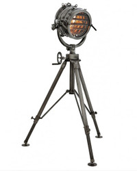 Industrial Studio Light Lamp Marine floor lamp in Industrial Design - Gunmetal Finish - Luxury quality