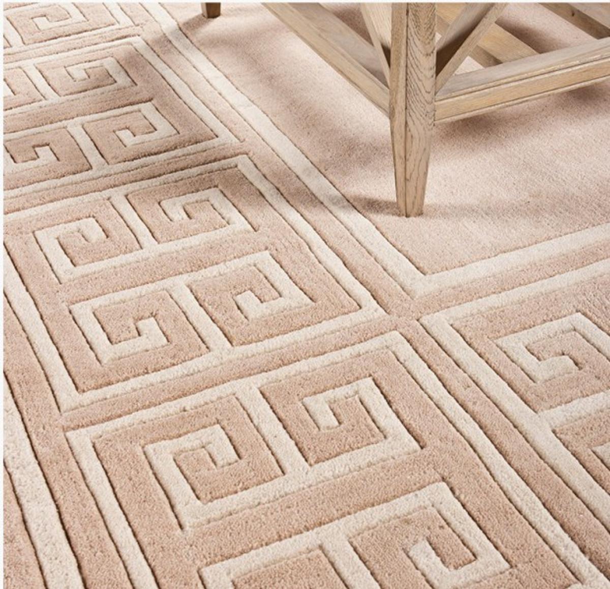 Teppich 300x400  Wunderschöner Luxus Teppich aus 100% Neuseeland-Wolle mit Mäander ...