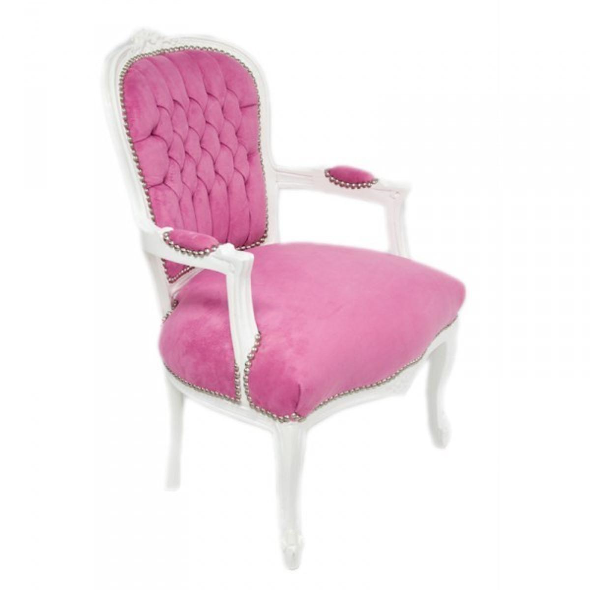 casa padrino barock salon stuhl mod1 rosa weiss st hle barock st hle salon st hle mod1. Black Bedroom Furniture Sets. Home Design Ideas