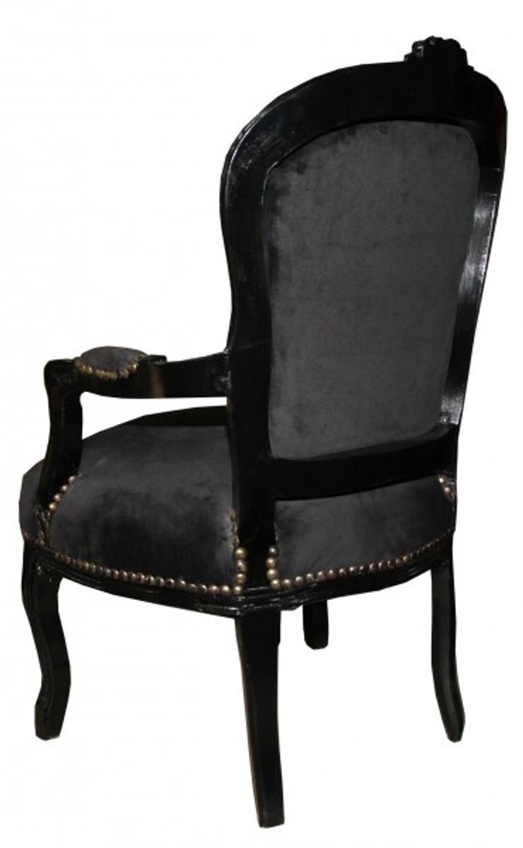 casa padrino barock salon stuhl schwarz schwarz mit bling bling glitzersteinen mod1 st hle. Black Bedroom Furniture Sets. Home Design Ideas