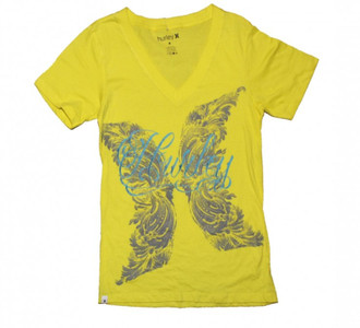 Hurley Skateboard Damen T-Shirt Yellow
