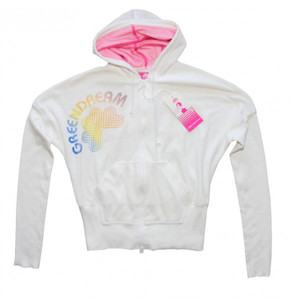 Fornarina Skateboard girlie Zip Sweater Shila White – Bild 1