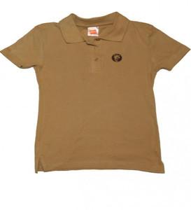 Hanes Skateboard Girlie Polo T-Shirt  Beige – Bild 1