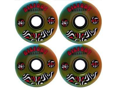 Big Foot Longboard Wheels Marbles Orange / Blue 76mm / 84a Wheel Set Rollen Skateboard Cruiser Bigfoot