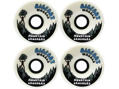 Big Foot Longboard Wheels Crushers Weiß 76mm / 83a Wheel Set Rollen Skateboard Cruiser Bigfoot