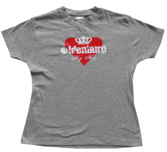 Hanes Skateboard Girlie T-Shirt Oldenburg Grey