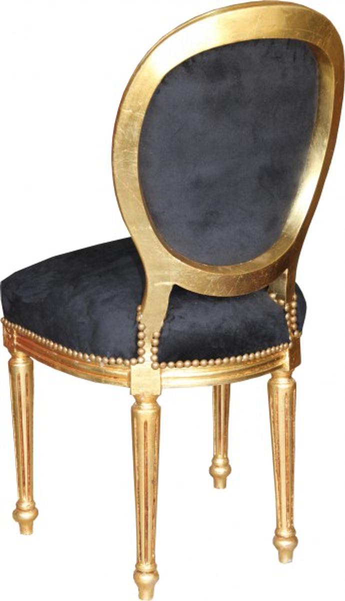 casa padrino barock esszimmer stuhl schwarz gold mod2 rund st hle barock st hle. Black Bedroom Furniture Sets. Home Design Ideas