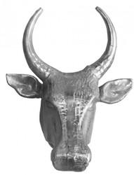 Casa Padrino designer bull head height: 70 cm, width 58 cm, depth: 42 cm noble sculpture made of aluminum, nickel plated - Edel & Sumptuously