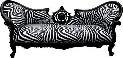 Zebra Möbel casa padrino barock sofa vire zebra schwarz möbel sofas