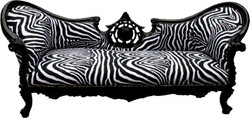 Casa Padrino Baroque sofa Vampire Zebra / Black - Furniture