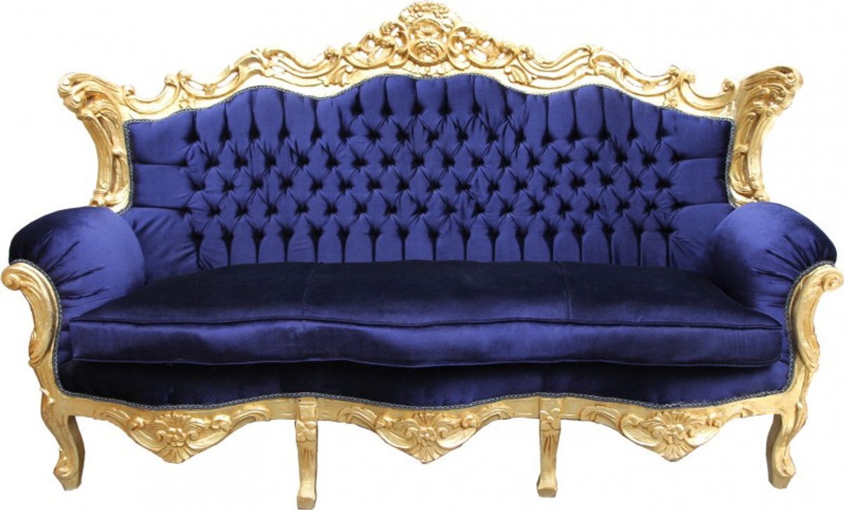 casa padrino baroque sofa master royal blue gold. Black Bedroom Furniture Sets. Home Design Ideas